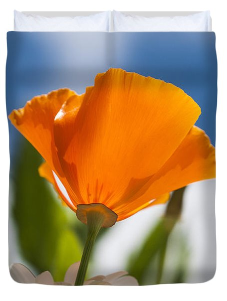 Poppy And Daisies Duvet Cover