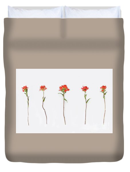 Poppy Blossoms Duvet Cover by Brittany Bevis