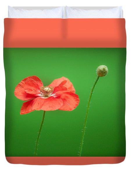 Poppy Duvet Cover by Bulik Elena