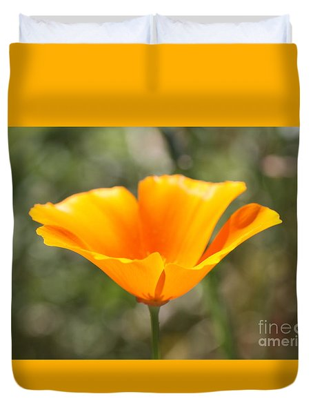 Poppy Flower Duvet Cover