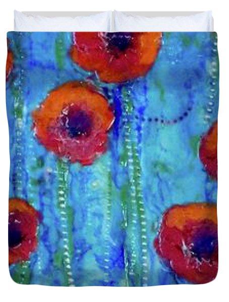 Poppy Dance Duvet Cover