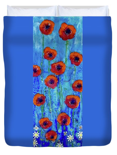 Poppy Dance Duvet Cover