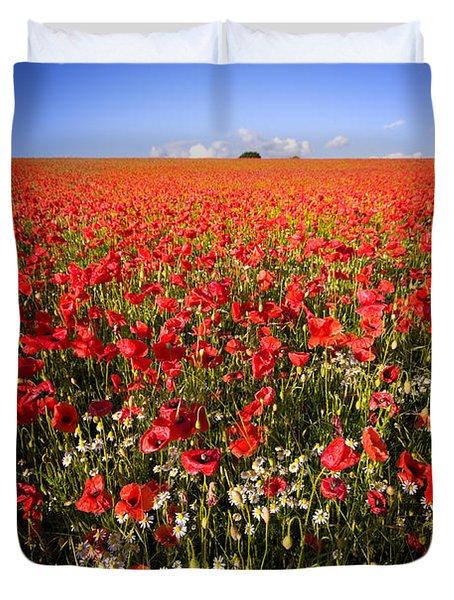 Poppy Field Duvet Cover by Meirion Matthias