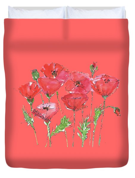 Poppy Garden Duvet Cover