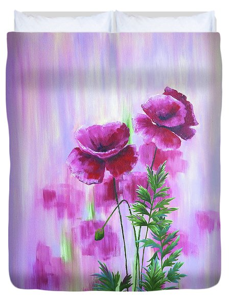 Poppy Haze Duvet Cover