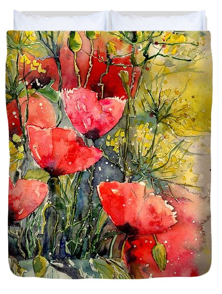 Poppy Impression Duvet Cover