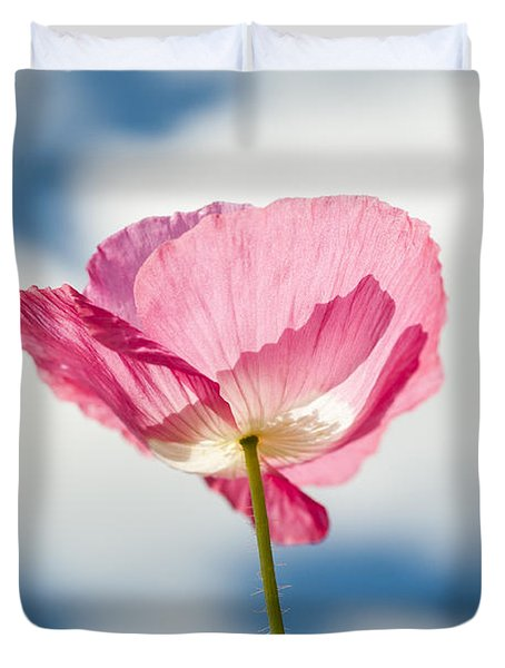 Poppy In The Clouds Duvet Cover