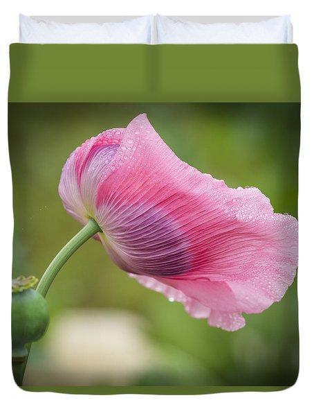 Poppy In The Wind Duvet Cover