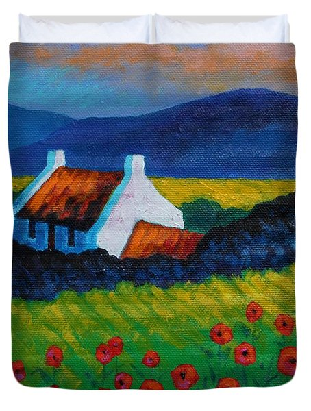 Poppy Meadow Duvet Cover by John  Nolan