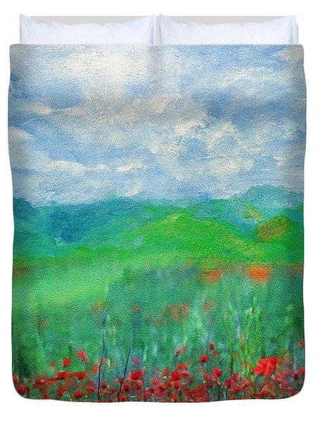Poppy Meadows Duvet Cover