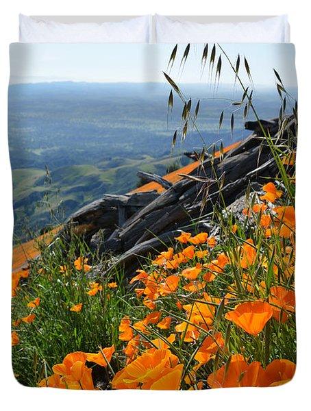 Poppy Mountain  Duvet Cover