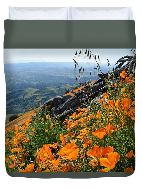 Poppy Mountain  Duvet Cover by Kyle Hanson