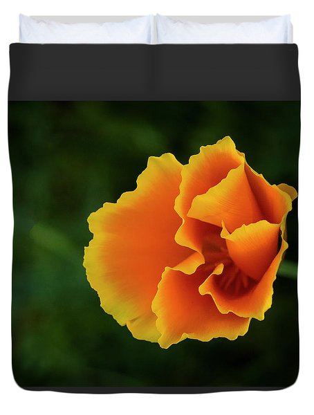 Poppy Orange Duvet Cover