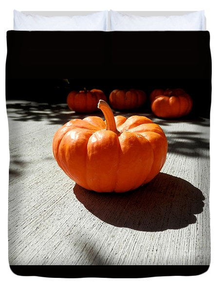 Poppy Pumpkin Duvet Cover