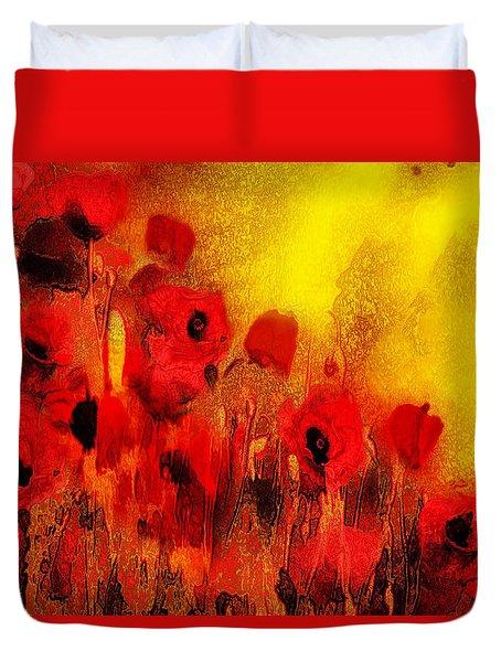 Poppy Reverie Duvet Cover