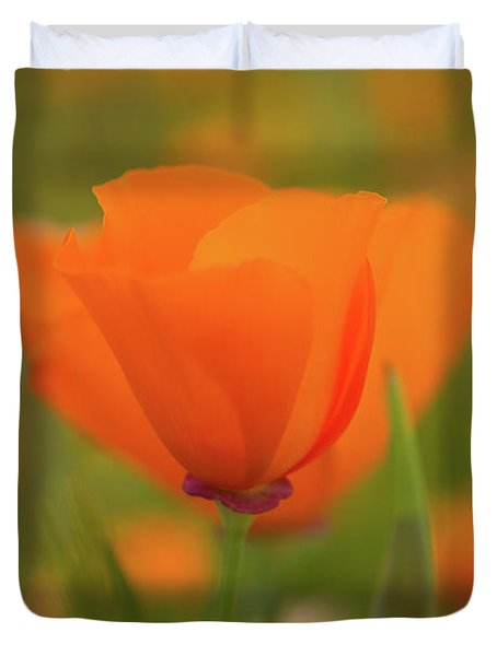 Duvet Cover featuring the photograph Poppy by Roger Mullenhour