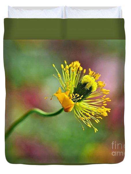 Poppy Seed Capsule Duvet Cover by Kaye Menner