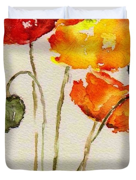 Poppy Trio Duvet Cover