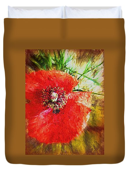 Poppy Variation Too Duvet Cover