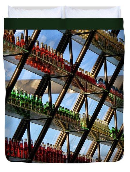 Pop's Bottles Duvet Cover by Lana Trussell