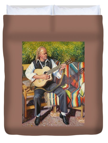 Duvet Cover featuring the painting Por Tu Amor by Donelli  DiMaria