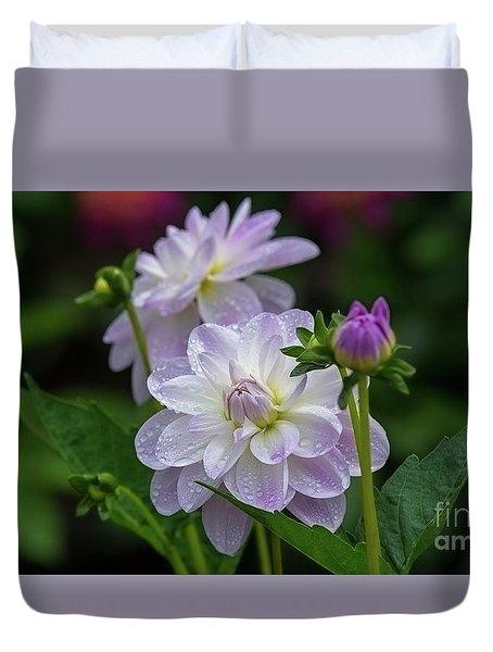 Porcelain Dahlias 2 Duvet Cover