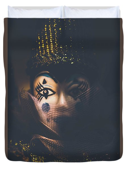 Porcelain Doll. Performing Arts Event Duvet Cover