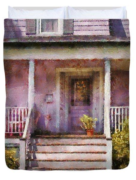 Porch - Cranford Nj - Grandmotherly Love Duvet Cover by Mike Savad