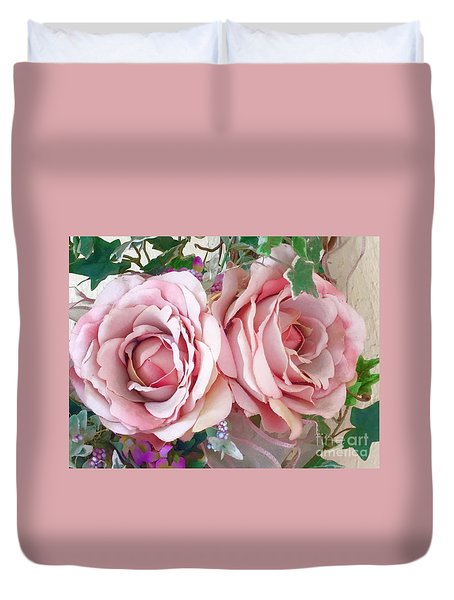 Porch Roses Duvet Cover