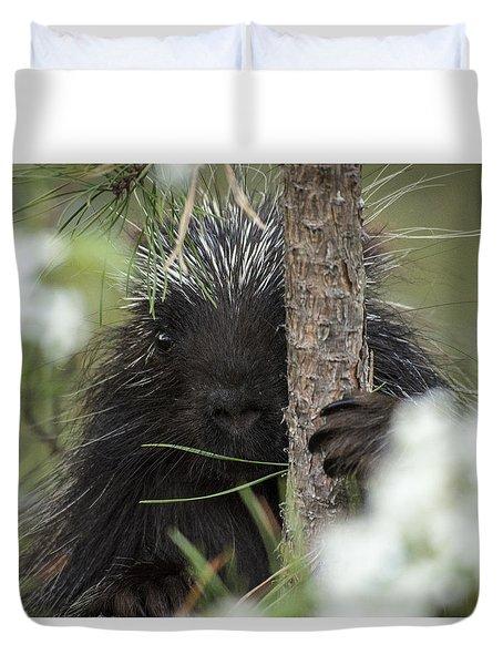 Porcupine Check-out Duvet Cover