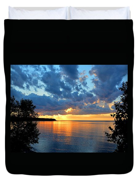Porcupine Mountains Sunset Duvet Cover
