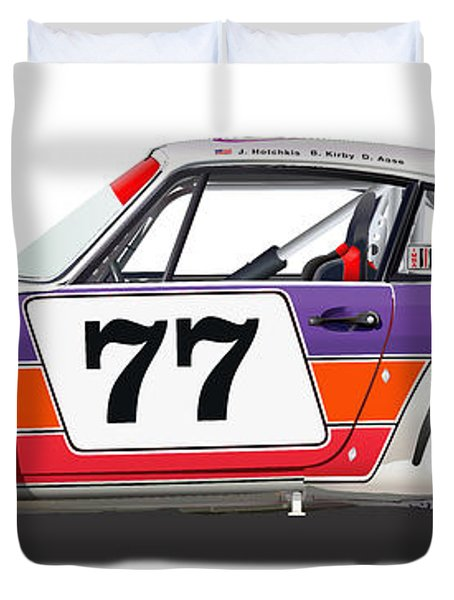 Porsche 1977 Rsr Illustration Duvet Cover