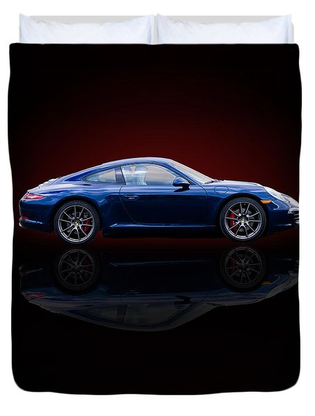 Porsche 911 Carrera - Blue Duvet Cover
