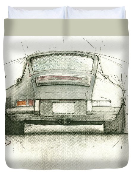 Porsche 911 Rs Duvet Cover