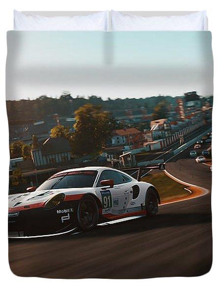 Porsche 911 Rsr, Spa-francorchamps - 33 Duvet Cover