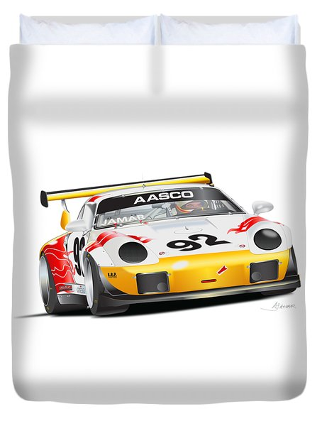 Porsche 911 Turbo Custom Duvet Cover