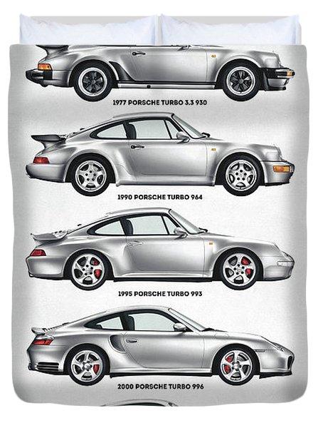 Porsche 911 Turbo Evolution Duvet Cover