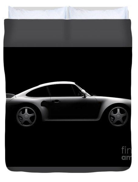 Porsche 959 - Side View Duvet Cover