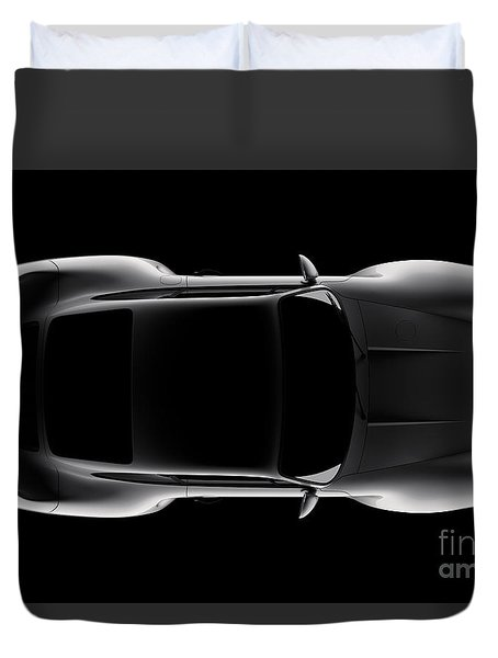 Porsche 959 - Top View Duvet Cover