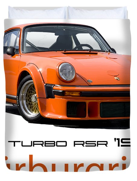 Porsche Carrera Rsr Nurburgring German Retro Sports Car Duvet Cover