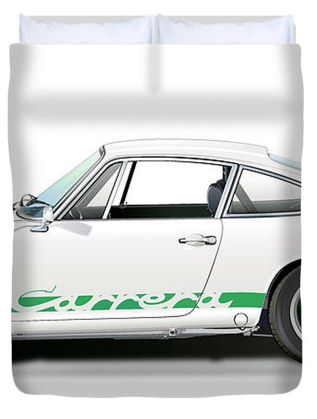Porsche Carrera Rs Illustration Duvet Cover