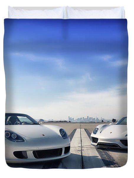 #porsche #carreragt And #918spyder Duvet Cover