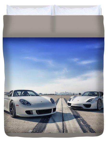 #porsche #carreragt And #918spyder Duvet Cover