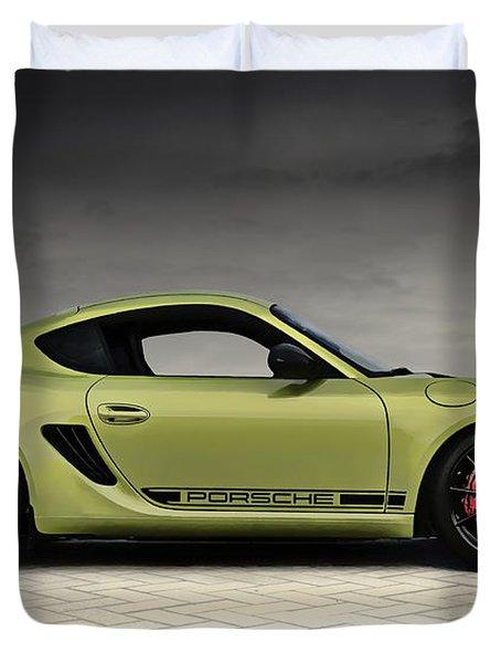Porsche Cayman R Duvet Cover