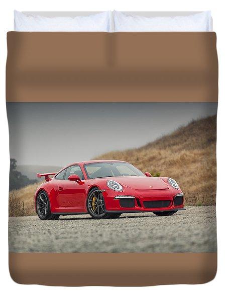 Duvet Cover featuring the photograph Porsche 991 Gt3 by ItzKirb Photography
