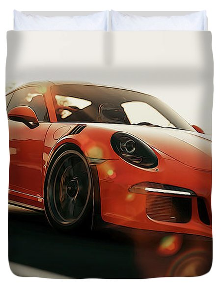 Porsche Gt3 Rs - 4 Duvet Cover