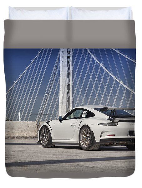 Duvet Cover featuring the photograph Porsche Gt3rs by ItzKirb Photography