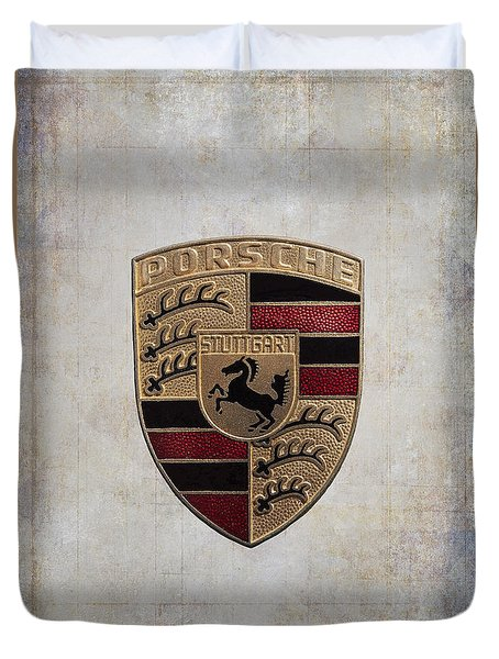 Porsche Shield Duvet Cover