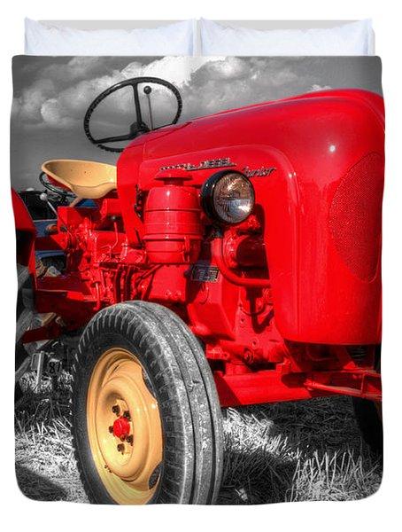 Porsche Tractor Duvet Cover by Rob Hawkins