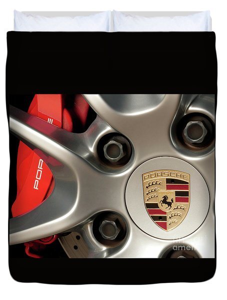Porsche Wheel Detail #1 Duvet Cover